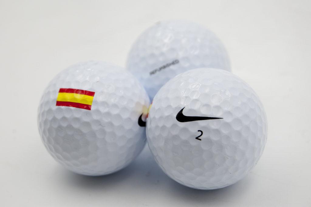 Bolas de golf con bandera de España