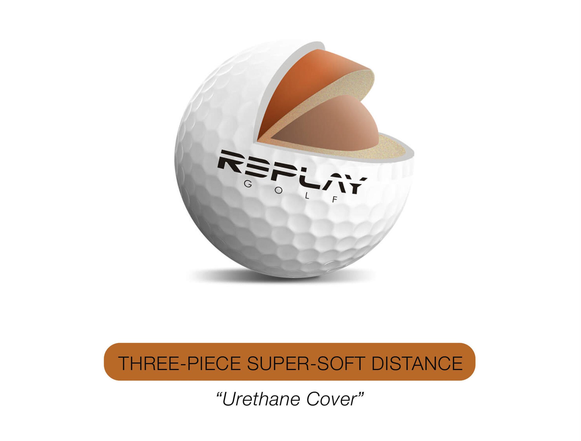 Bola de golf nueva de tres piezas