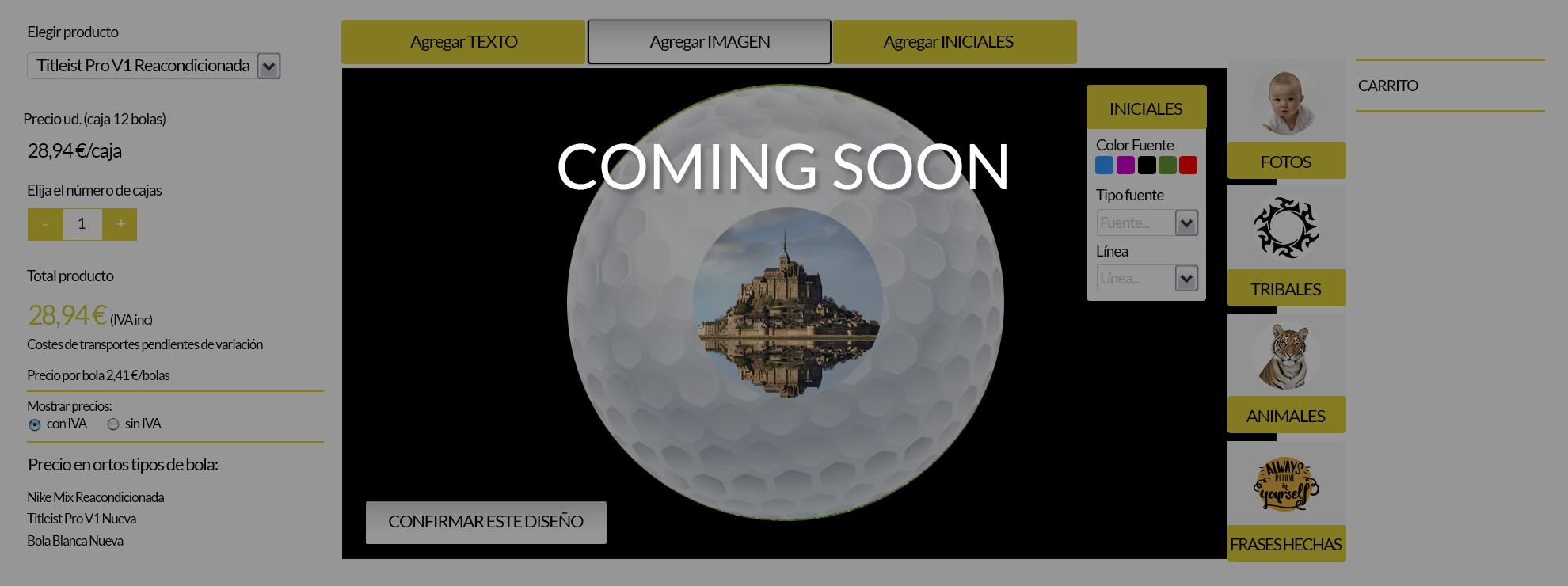 personalizador de bolas de golf con fotos, dibujos, logotipos